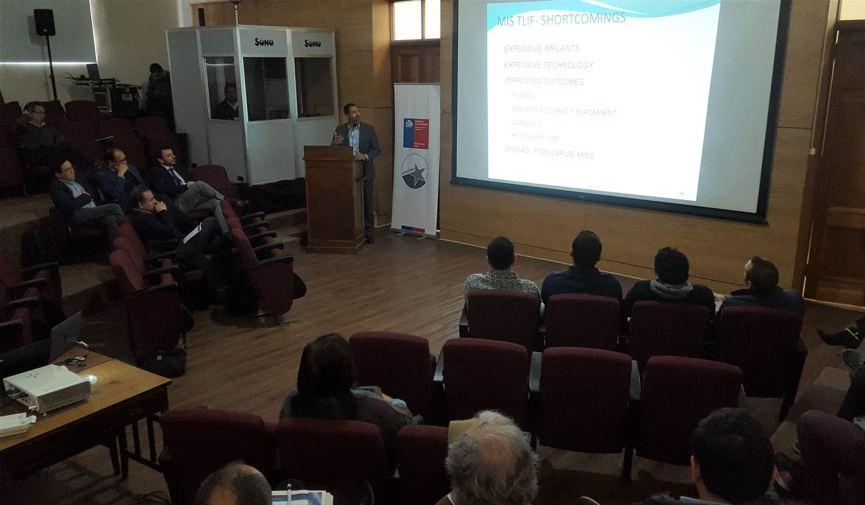 Concepción fue sede del primer curso de Cirugía Mínimamente Invasiva de Columna realizado en Chile