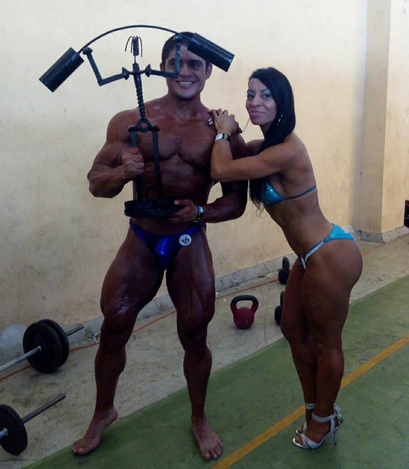 David Rojas y Priscila Alvarado, fisicoculturistas